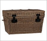 Colton Woven Basket, Large. Used as a bedside table in one of the guest rooms, also holds extra linens and blankets.