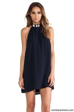 I➨ Vestidos halter cortos de fiesta moda verano 2014 En el verano la frescura y la comodidad es importante por lo que siempre debemos elegir prendas que nos m