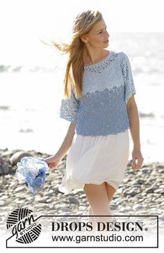 Crochet sweater cotton blend, crochet top, summer jumper, spring women's outfits. Handmade. CHOOSE SIZE and COLOR. by Lallallero on Etsy https://www.etsy.com/uk/listing/514861323/crochet-sweater-cotton-blend-crochet-top