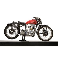 1938 Benelli 250cc Motorcycle Canvas Art - Panoramic Images (12 x 20)