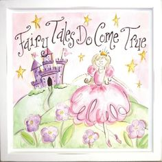 Fairy Tales Do Come True Mounted Deco Art Print
