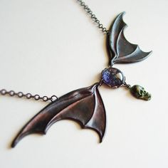 Large+Bat+Wing+Necklace+Victorian+Halloween+Jewelry+by+skeptis,+$28.00