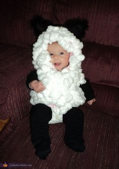 Snuggly Sheep - easy DIY costume for babies