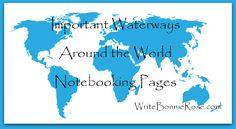 Timeline Worksheet-George Washington Goethals and Important Waterways Notebooking Pages