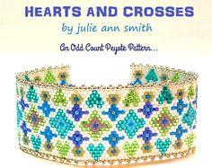Julie Ann Smith Designs PSYCHEDELIC Odd Count Peyote Bracelet