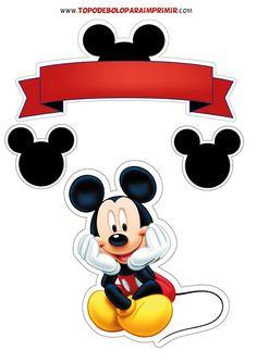 Mickey Mouse Cake Topper, Mickey E Minnie Mouse, Theme Mickey, Fiesta Mickey Mouse, Mickey Mouse Tattoos, Mickey Party, Mickey Cakes, Elmo Party, Dinosaur Party