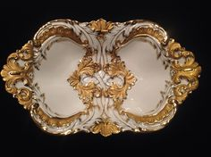 Meissen RARE Extraordinary Gold Gilded Antique dish