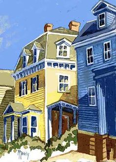 Ann Neely   WATERCOLOR          Historic Newport Buildings