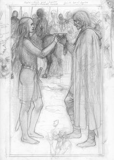 Eowyn and Aragorn by Alan Lee