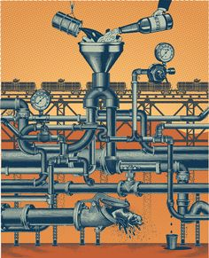 The Politics of Pipelines. Illustration by Carl Wiens. Represented by i2i Art Inc. #i2iart