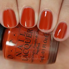 OPI It's A Piazza Cake | Fall 2015 Venice Collection | Peachy Polish #orange heaven!