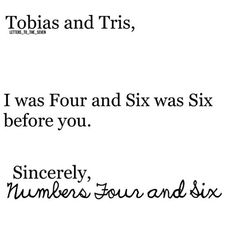 Ha lorics were there first!! And our Four and Six are much better :p so sorry.