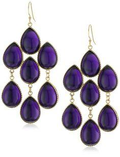 Lisa Stewart Chandilier Cascade Amethyst Earrrings -These would make a nice Valentine gift..