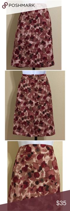 🎉HP🎉Ann Taylor Skirt Size 6 Ann Taylor Straight, Pencil Skirt Size 6 Red, Pink, Brown, & Beige Colors Rear Zip 1 Small Metal Clasp Closure Lined Rear Slit Machine Washable Shell 100% Cotton Lining 100% Polyester Waist Approx. 30 Inches Hips Approx. 38 Inches Front Length Approx. 22 Inches Rear Length Approx. 22.5 Inches Sweep Approx. 38 Inches Rear Slit Approx. 7 Inches Compare Measurements To Your Own Well Fitting Garment To Ensure A Great Fit MSRP $ 69.99 New With Tag🎉HP 10/31🎉 Ann…