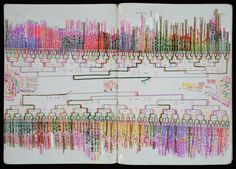 SHINGO IKEDA   DIARY    artist notebook - Shingo Ikeda's notebooks illustrate his calculations of the limitless journeys he might make on the Tokyo subway, or predictions of the outcomes of the baseball tournaments and sumo wrestling competitions he avidly follows. #art #data #infographics #visualizaton