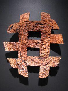 """Jack Slentz - 30"""" x 8"""" x 6"""" resin vain eucalyptus burl"""