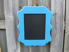 Wood Framed Chalk Board in Island Blue by BabesnBowsBoutique