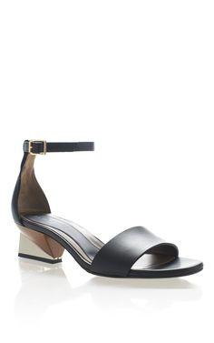 Shop Marni Low Rise Geometric Heel Sandals at Moda Operandi