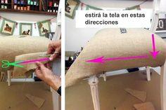 Cómo tapizar una silla, paso a paso - LA NACION Furniture Restoration, Decoupage, Upholstery, Sweet Home, Projects To Try, Bedroom, Diy, Home Decor, Jade