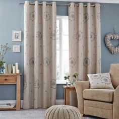 Excellent collection of ready made eyelet curtains perfect for all rooms in your home. Shop our fully lined eyelet curtains and blackout eyelet curtains today, all available from Dunelm. Ready Made Eyelet Curtains, Blackout Eyelet Curtains, Lined Curtains, Duck Egg Cushions, Curtains Dunelm, Bedroom Curtains, Guest Room Decor, Soft Furnishings, Blinds