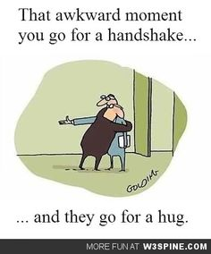 I'm going to start doing this to everyone I meet, especially at work. In fact, I'm going to greet clients with a big hug before sending them to the showroom. Whenever I go into a salesman's office to get billing approved, I'll hug them. Mailman comes for mail: hugs! Architect stops by to drop off new plans: more hugs! Meeting with boss to discuss my inappropriate behavior: super mega hugs!!
