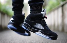 281487c69075 Nike Air Jordan 5 OG Black Metallic Silver 2016 - Sneaker Bar Detroit New  Nike Air