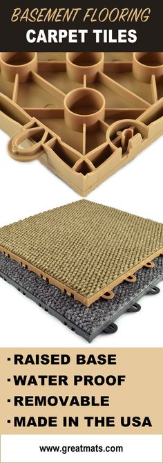 Raised Carpet Tiles Are An Excellent Way To Add Comfort And Style Your Basement Unfinished Ideas DiyCheap
