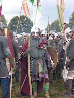 Battle of Hastings Reenactment. The Saxons Muster for Battle European History, Women In History, Ancient History, Renaissance, Ottonian, Medieval Life, Anglo Saxon, Picts, Dark Ages