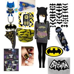 batman outfit, created by blackveilbrides-x3 on Polyvore