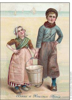 Carte Heureuse année petits pêcheurs pour envoyer par La Poste, sur Merci-Facteur !