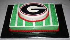 Georgia Bulldogs cakes | Lingerie Shower Cake - 3D Cake with Fondant Icing and Accents