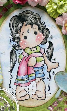 Jenine's Card Ideas: Summer Bathing Tilda