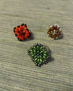 Beaded rings Beaded Jewellery, Beaded Rings, Jewelry, Brooch, Stud Earrings, Diy, Jewlery, Jewerly, Bricolage