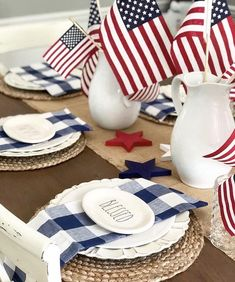 Americana Home Decor Ideas to show your Patriotism, Celebrate America's birthday with these warm and inviting Americana home decor. Red, white and blue never looked so good. See what these amazing desig. Fourth Of July Decor, 4th Of July Celebration, 4th Of July Decorations, 4th Of July Party, July 4th, Holiday Decorations, Holiday Crafts, Holiday Fun, Holiday Ideas
