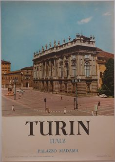 - Turin, Italy Palazzo Madama Original Italian travel poster. Circa 1950. Printed in Italy.  ✈✈✈ Here is your chance to win a Free Roundtrip Ticket to Turin, Italy from anywhere in the world **GIVEAWAY** ✈✈✈ https://thedecisionmoment.com/free-roundtrip-tickets-to-europe-italy-turin/