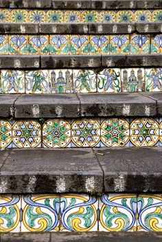 Caltagirone, Sicily, Italy - Staircase of Santa Maria del Monte #lcaltagirone #sicilia #sicily
