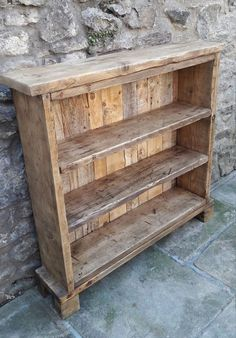 reclaimed wood shelves rustic industrial - Wood Bookcases - Ideas of Wood Bookcases - Handmade solid wood bookcase. reclaimed scaffold board rustic by Wooden Pallet Furniture, Reclaimed Wood Projects, Diy Wood Projects, Furniture Projects, Rustic Furniture, Wood Pallets, Handmade Furniture, Pallet Boards, Furniture Design
