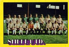 1974-75 A&BC Gum #82 Sheffield United Team Front
