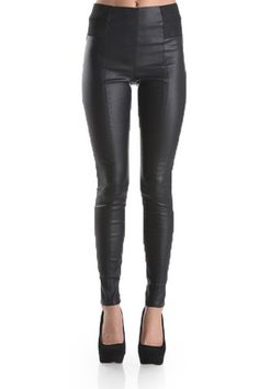 My Not Basic Faux Leather Leggings