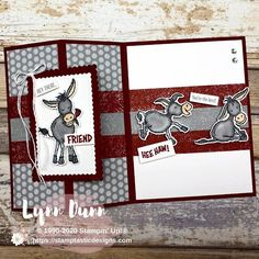 Joy Fold Card, Fancy Fold Cards, Folded Cards, Simple Card Designs, Cute Cards, Cards Diy, Stamping Up Cards, Animal Cards, Paper Cards