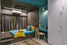 Boutique Home Designed By Zed Designs - The Architects Diary Condo Living, Living Room Decor, Bedroom Decor, Bedroom Themes, Bedroom Ideas, India Home Decor, Modern Family Rooms, Bedroom Bed Design, Bedroom Designs