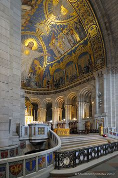 Inside Sacre Coeur, Montmartre, Paris, France