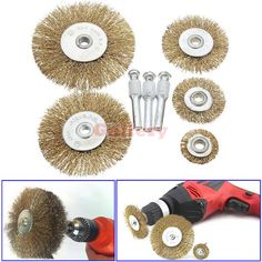 ==> [Free Shipping] Buy Best 5 Pcs Rotary Wire Wheel Brush Set with 3 Attachments for Drills Sanding Descaling Make Up Makeup Tools Online with LOWEST Price | 32513078511