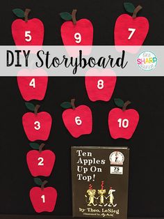 Step-by-step DIY felt board and felt apples storyboard! 2nd Grade Activities, Apple Activities, Kindergarten Activities, Book Activities, Classroom Hacks, Classroom Displays, Classroom Resources, Classroom Organization, Baby Education