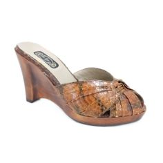 Salpy Sonya Wedge - Brown Snake #Sale Now only $218