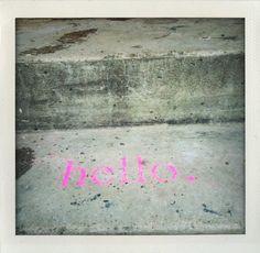 modularplus / hello. Exhibitions, Signage, Street Art, Exterior, Inspirational, Windows, Words, Ideas, Billboard