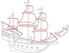 """TLC """"How to Draw Boats: Pirate Ships"""""""