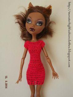 Vestido para Monster High V202 de My Monster High boutique por DaWanda.com