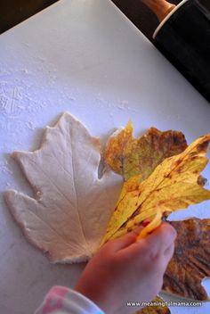 Salt Dough Leaf Bowl. Perfect Fall Craft