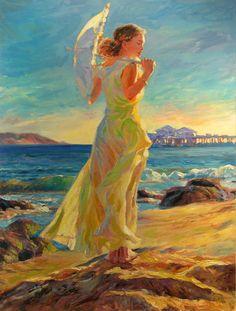 "Colors of the sea...  ""Summer Wind"" by Vladimir Volegov... Source-- PaintingHere.com"